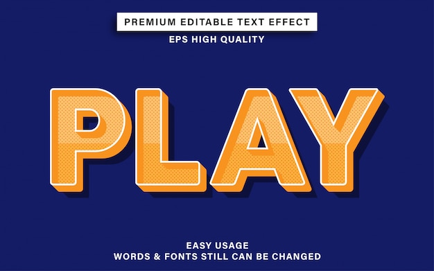 Speel tekst effect