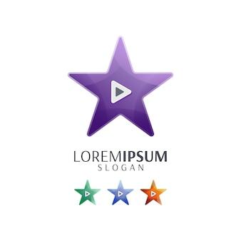 Speel video-logo met ster af