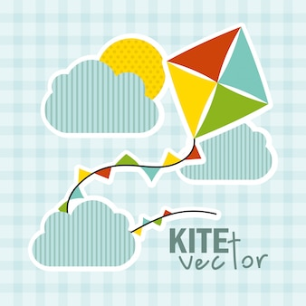 Speelgoed baby ontwerp over blauwe achtergrond vectorillustratie Premium Vector