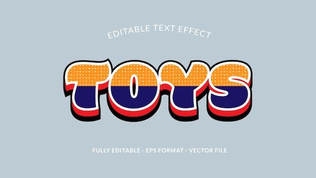 Speelgoed bewerkbaar teksteffect
