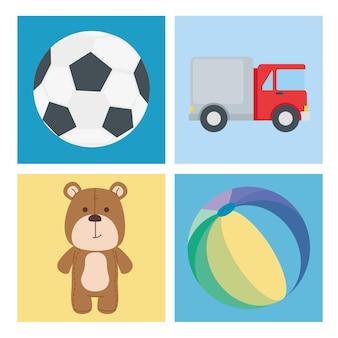 Speelgoed icoon collectie