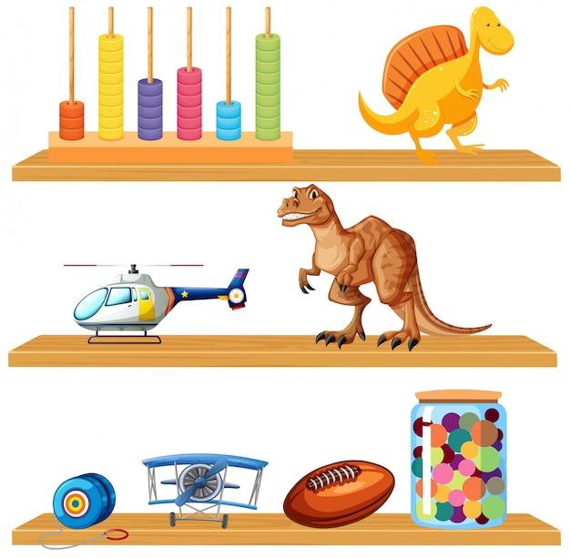Speelgoed op een plank