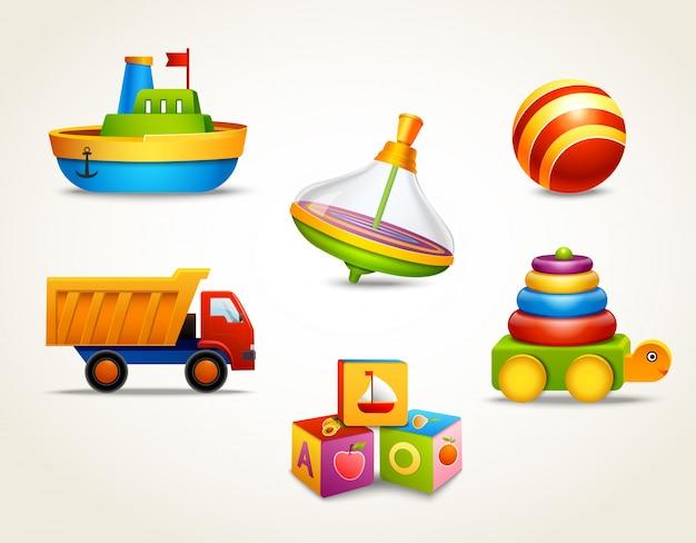Speelgoed pictogrammen ingesteld