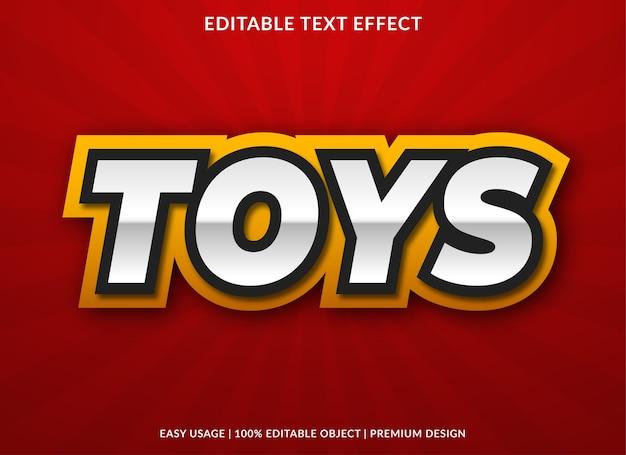 Speelgoed tekst stijlsjabloon