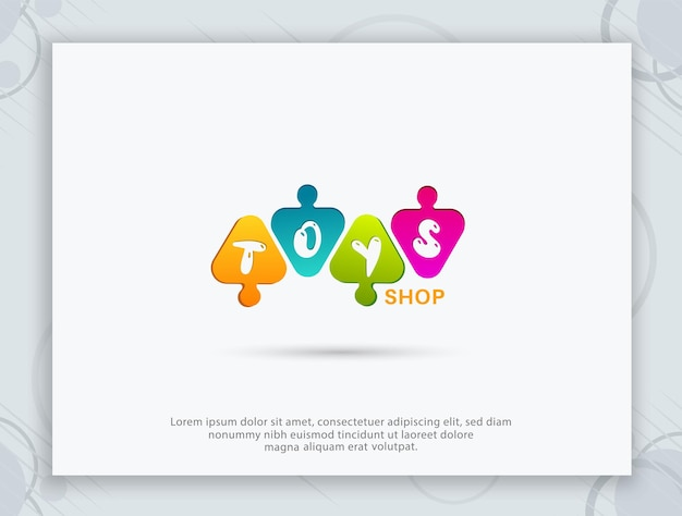 Speelgoedwinkel logo ontwerp
