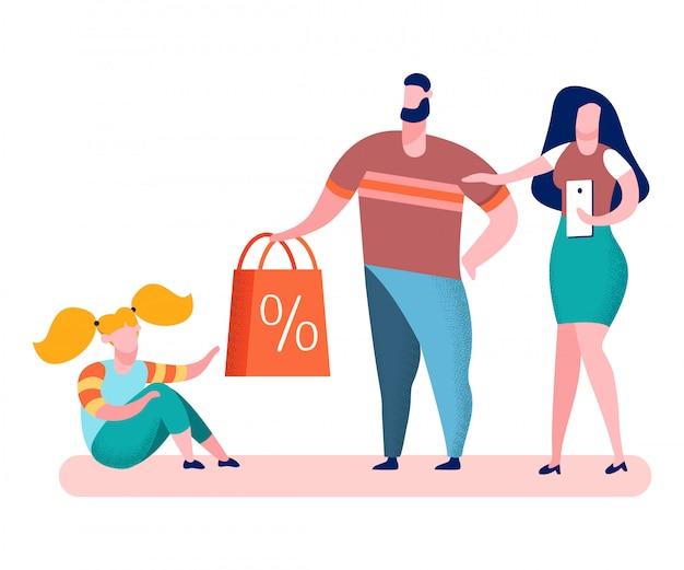 Speelgoedwinkel verkoop, aanbiedingen platte vectorillustratie