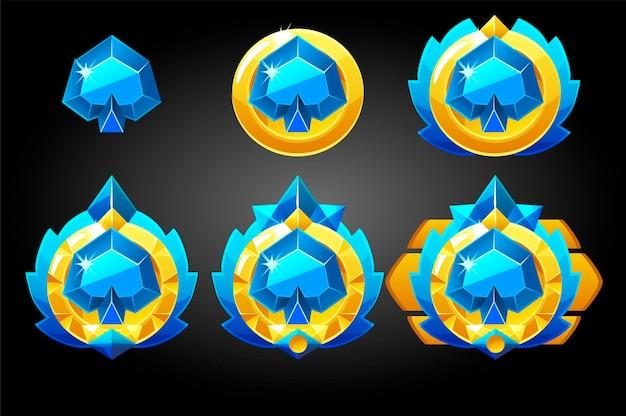 Speelkaart schoppen symbolen