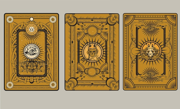 Speelkaart terug illustratie
