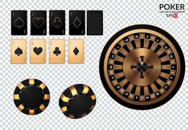 Speelkaarten en pokerchips vliegen naar het casino.