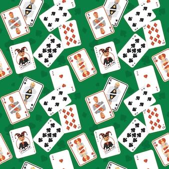 Speelkaarten naadloos patroon