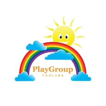 Speelplaats voor kinderen logo