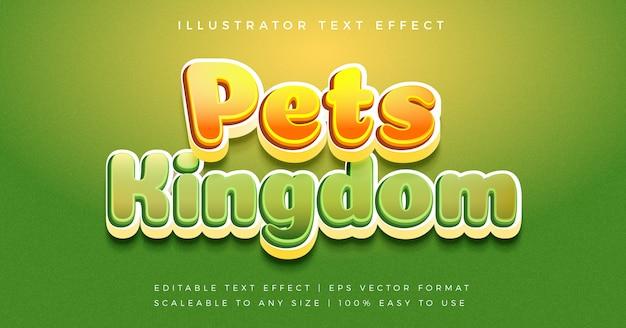 Speels casual tekststijl lettertype-effect