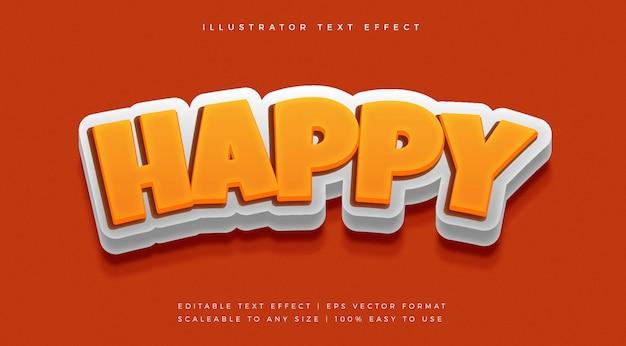 Speels lettertype-effect in cartoon-tekststijl