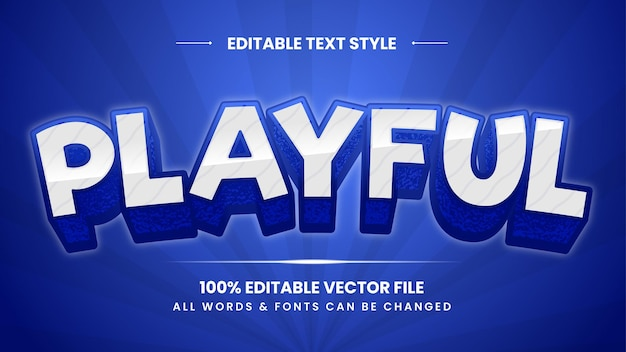Speels retro 3d-tekststijleffect. bewerkbare illustrator tekststijl.