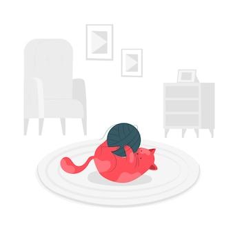 Speelse kat concept illustratie