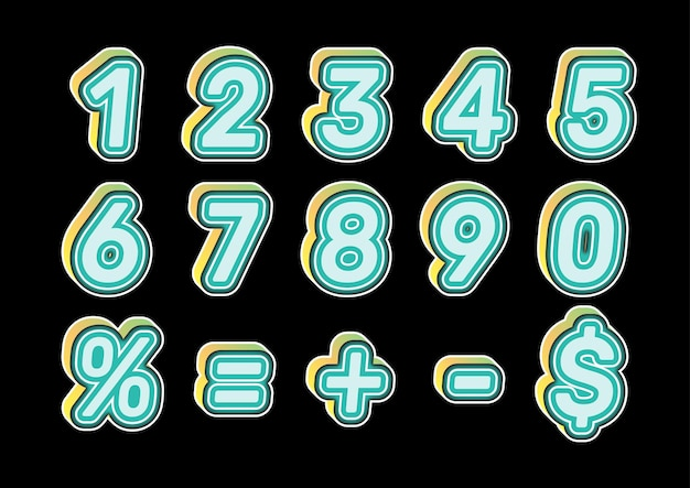 Speelse kids kleurnummers instellen