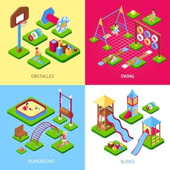 Speeltuin 2x2 afbeeldingen set