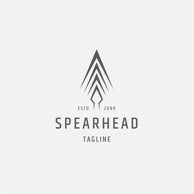 Speer logo pictogram ontwerp sjabloon platte vectorillustratie Premium Vector