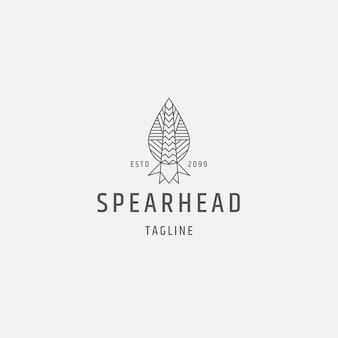 Speer logo pictogram ontwerp sjabloon platte vectorillustratie