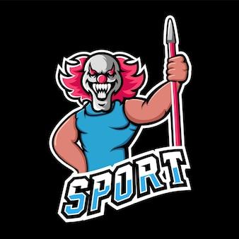 Speer sport en esport gaming mascotte logo Premium Vector