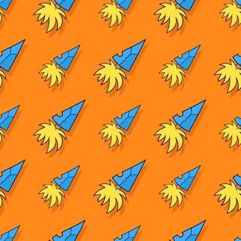 Speerpunt speer naadloos herhalingspatroon. achtergrond vectorillustratie.