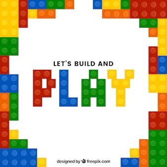 Spel achtergrond met kleurrijke stukken