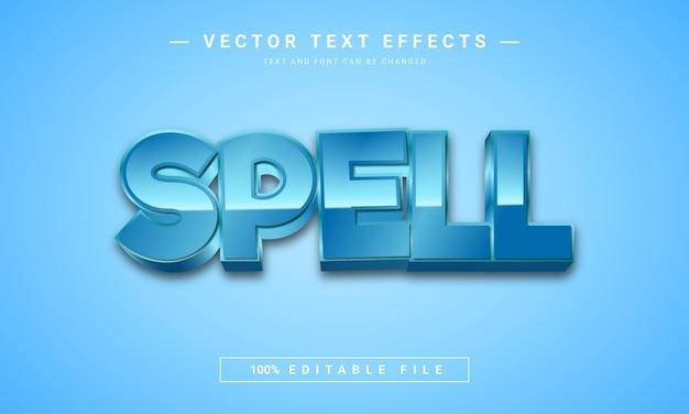 Spel bewerkbaar teksteffectontwerp
