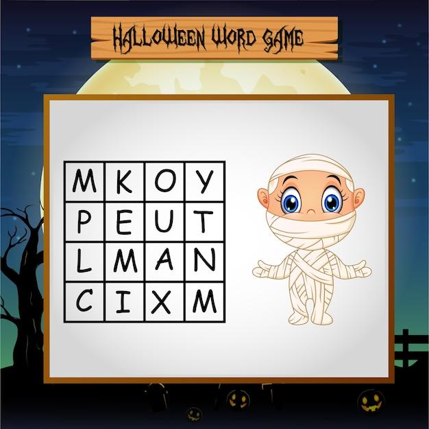 Spel halloween vind het woord mummie