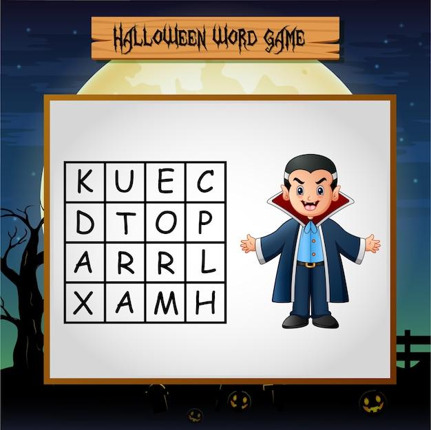 Spel halloween vind het woord van dracula