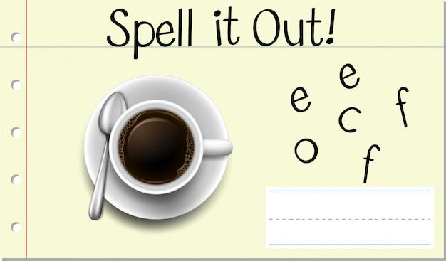 Spel het uit koffie