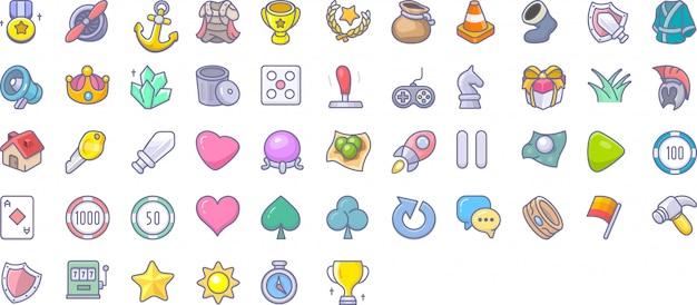 Spel icon set