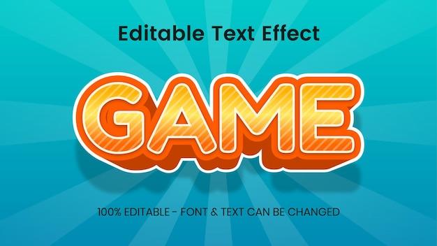 Spel lettertype teksteffect. 3d-teksteffect