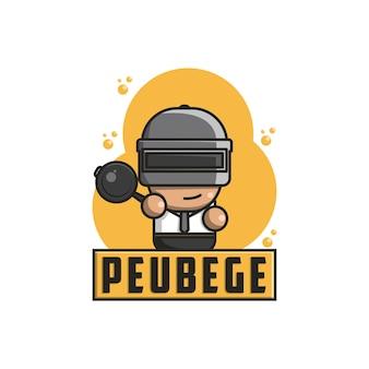 Spel schattig logo