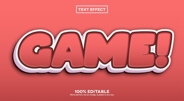 Spel! teksteffect
