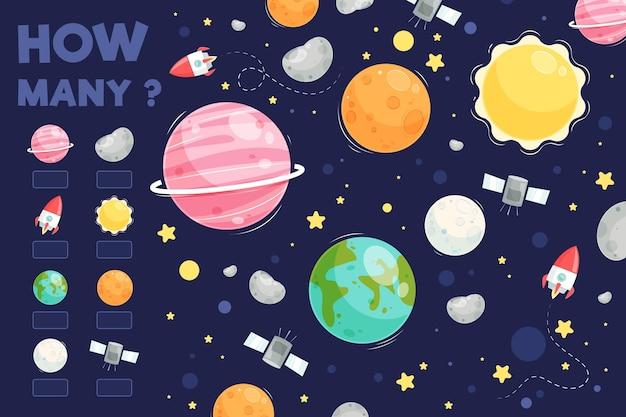 Spel tellen met planeten