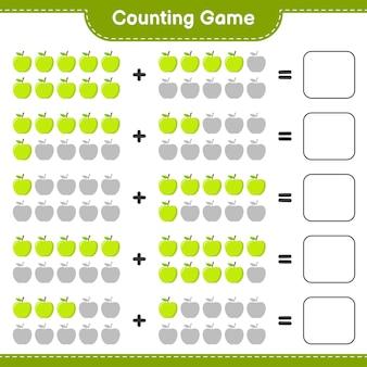 Spel tellen, tel het aantal apple en schrijf het resultaat.