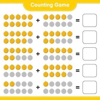 Spel tellen, tel het aantal honingmeloen en schrijf het resultaat.