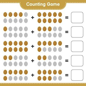 Spel tellen, tel het aantal kiwi en schrijf het resultaat.