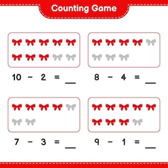 Spel tellen, tel het aantal linten en schrijf het resultaat