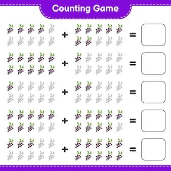 Spel tellen, tel het aantal vlierbessen en schrijf het resultaat.