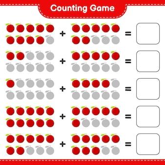 Spel tellen, tel het aantal yumberry en schrijf het resultaat.