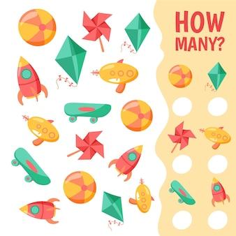 Spel tellen voor kinderen sjabloon
