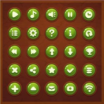 Spel ui set knoppen interface