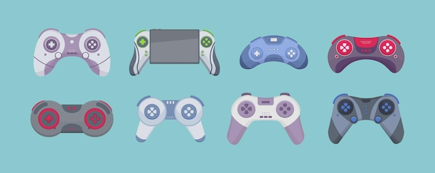 Spel van joystick geïsoleerd op een witte achtergrond