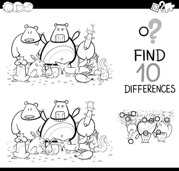 Spel van verschillen met dieren