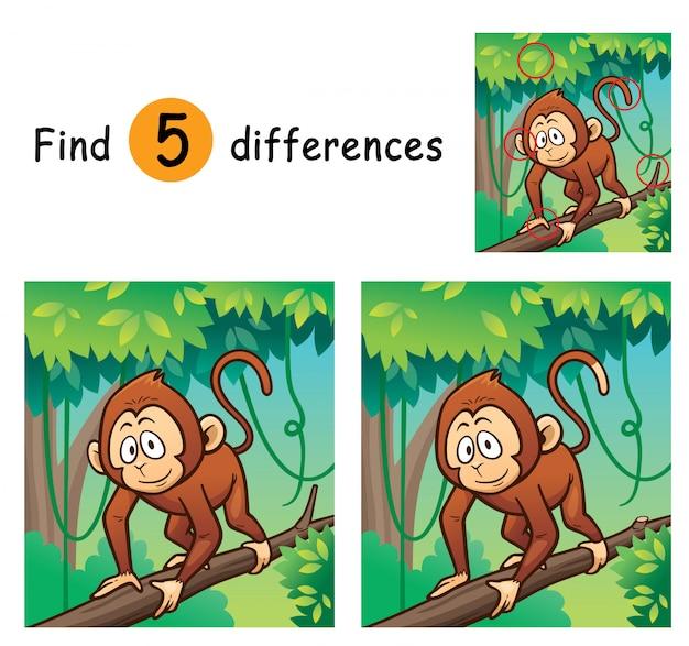 Spel voor kinderen vindt verschillen