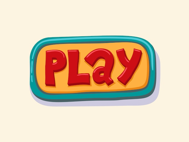 Spelen. hand getrokken web knop. vectorillustratie
