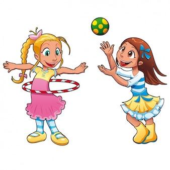 Spelende kinderen ontwerp