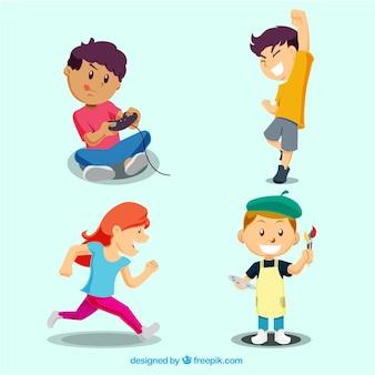 Spelende kinderen set