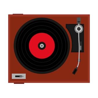 Speler vinyl schijf
